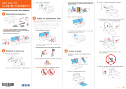 Epson Stylus® T22 - Start Here - Epson America, Inc.