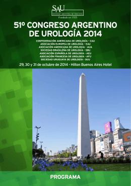 51º congreso argentino de urología 2014 programa