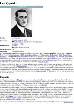Lev Semenovich Vigotsky (1866-1934) ( PDF - 2.1 MB)