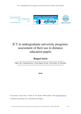 ICT in undergraduate university programs: assessment of their use