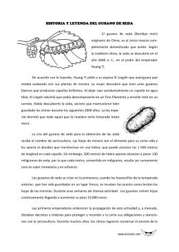 HISTORIA Y LEYENDA DEL GUSANO DE SEDA El