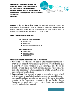 REQUISITOS PARA EL REGISTRO DE UN MEDICAMENTO