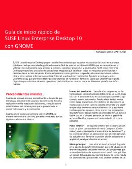 Guía de inicio rápido de SUSE Linux Enterprise Desktop 10 con