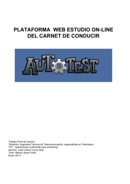 AutoTest : Plataforma web de estudio on