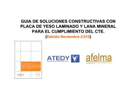 GUIA DE SOLUCIONES CONSTRUCTIVAS CON PLACA DE YESO