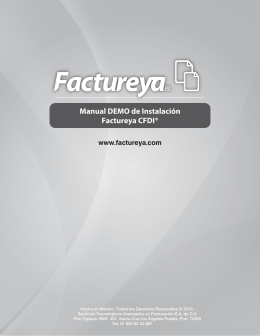 Manual DEMO de Instalación Factureya CFDI®