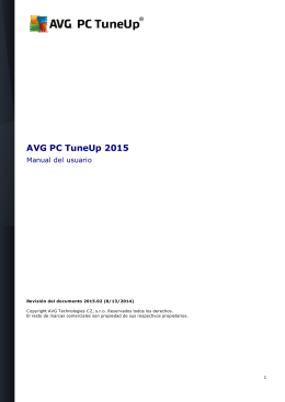 AVG PC TuneUp 2015 User Manual