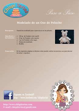 Modelado oso de peluche - Tartas, cupcakes y galletas | Chispitartas