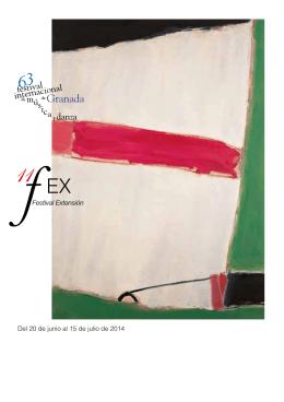Folleto FEX 2014 - Festival Internacional de Música y Danza de