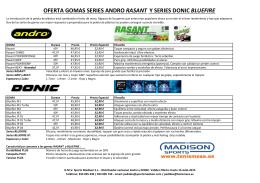 Andro Rasant y Donic Bluefire - Oferta hasta 15-07