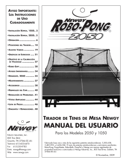 MANUAL DEL USUARIO - donic table tennis