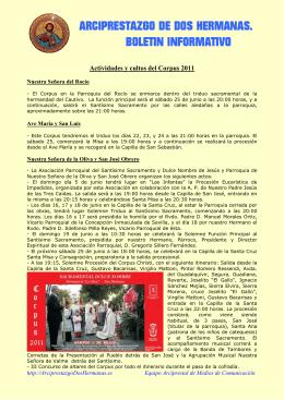 ARCIPRESTAZGO DE DOS HERMANAS. BOLETIN INFORMATIVO