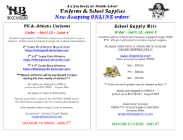 Uniforms & School Supplies Now Accepting ONLINE orders!