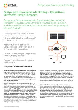 Zentyal para Proveedores de Hosting – Alternativa a Microsoft