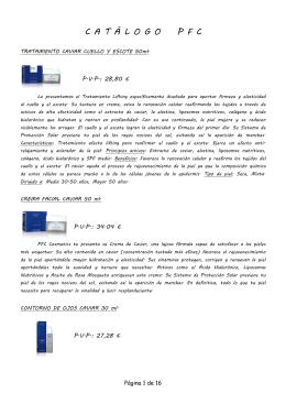 Catalogo de Cosmetica PFC
