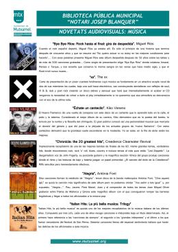 novetats audiovisuals: música