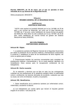 decreto 2065/1974, de 30 de mayo, por el que se