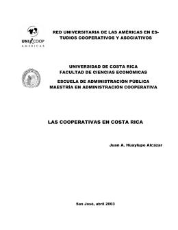 Las cooperativas en Costa Rica