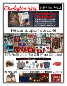 Please support our sale! - Meadow Heights Elementary School PTA
