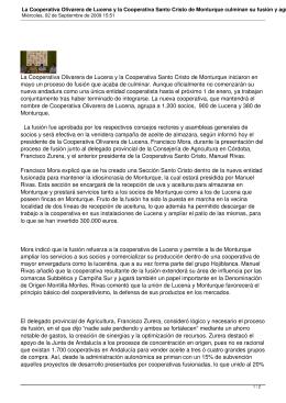 La Cooperativa Olivarera de Lucena y la