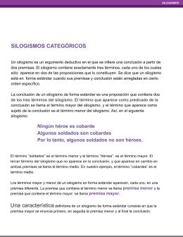 SILOGISMOS CATEGÓRICOS