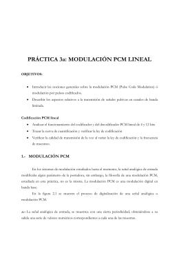 PRÁCTICA 3a: MODULACIÓN PCM LINEAL