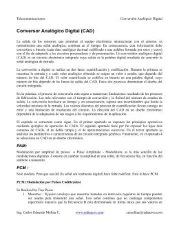 Conversor Analógico Digital (CAD)