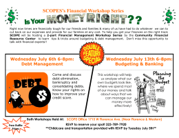 SCOPES`s Financial Workshop Series