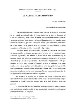 el iva en la isla de margarita - Mendoza, Palacios, Acedo, Borjas