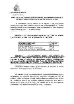 Extracto - Ayuntamiento de Orihuela