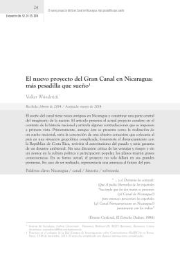 El nuevo proyecto del Gran Canal en Nicaragua: más pesadilla que