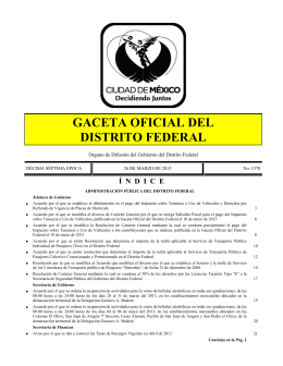 gaceta oficial del distrito federal - Portal Consejería Jurídica y de