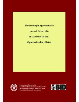 Biotecnología Agropecuaria para el Desarrollo en América Latina