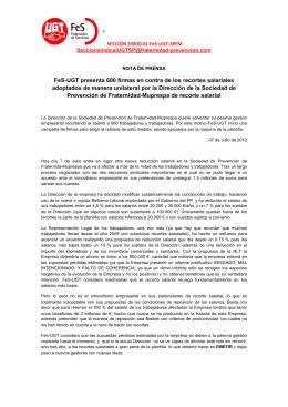 comunicado prensa recortes fes-ugt-spfm