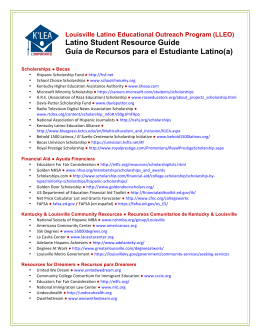 (LLEO) Latino Student Resource Guide Guía de Recursos para el