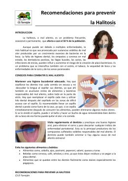 Recomendaciones para prevenir la Halitosis