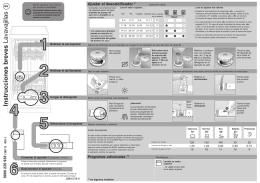 Instrucciones breves Lavavajillas - V-Zug