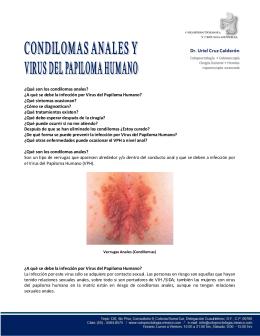 Condilomas-Virus del Papiloma Humano