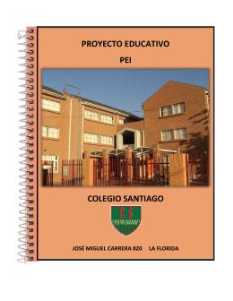proyecto educativo pei colegio santiago