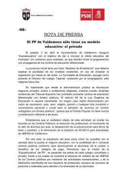 NdP 98 Educación Valdemoro