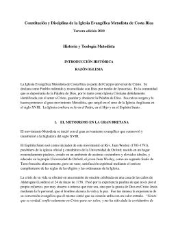 Historia de la Iglesia Evangelica Metodista de Costa Rica