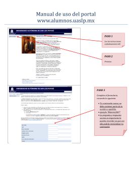 Manual de uso del portal www.alumnos.uaslp.mx