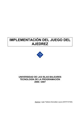 IMPLEMENTACIÓN DEL JUEGO DEL AJEDREZ