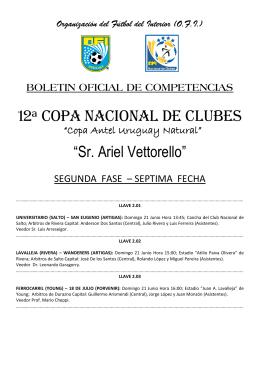 12ª Copa Nacional de Clubes - Segunda Fase