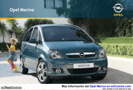 Catálogo del Opel Meriva