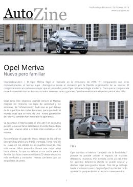 Autozine - Opel Meriva