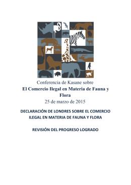Kasane sobre el Comercio Ilegal en Materia de Fauna y Flora