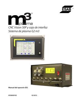 CNC Vision 50P y caja de interfaz Sistema de plasma G2 m3
