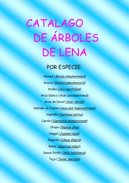 CATALOGO ARBOLES