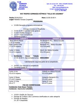 CLUB GIMNASIA RÍTMICA DEPORTIVA LEGANÉS